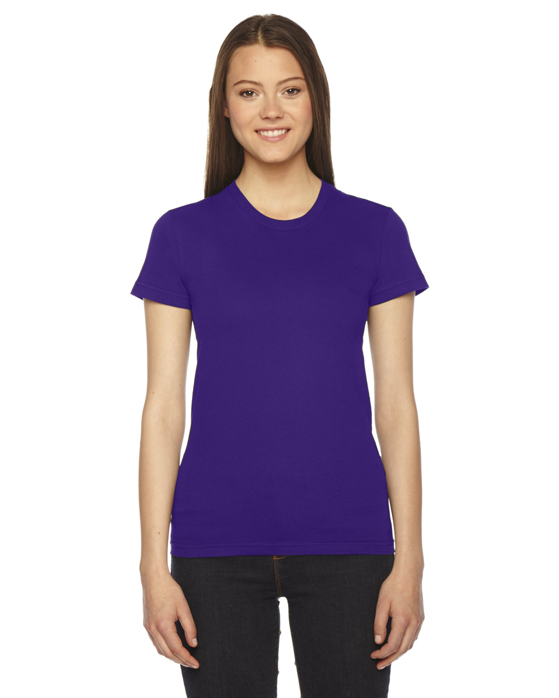 American Apparel Ladies' Fine Jersey Short-Sleeve T-Shirt PURPLE