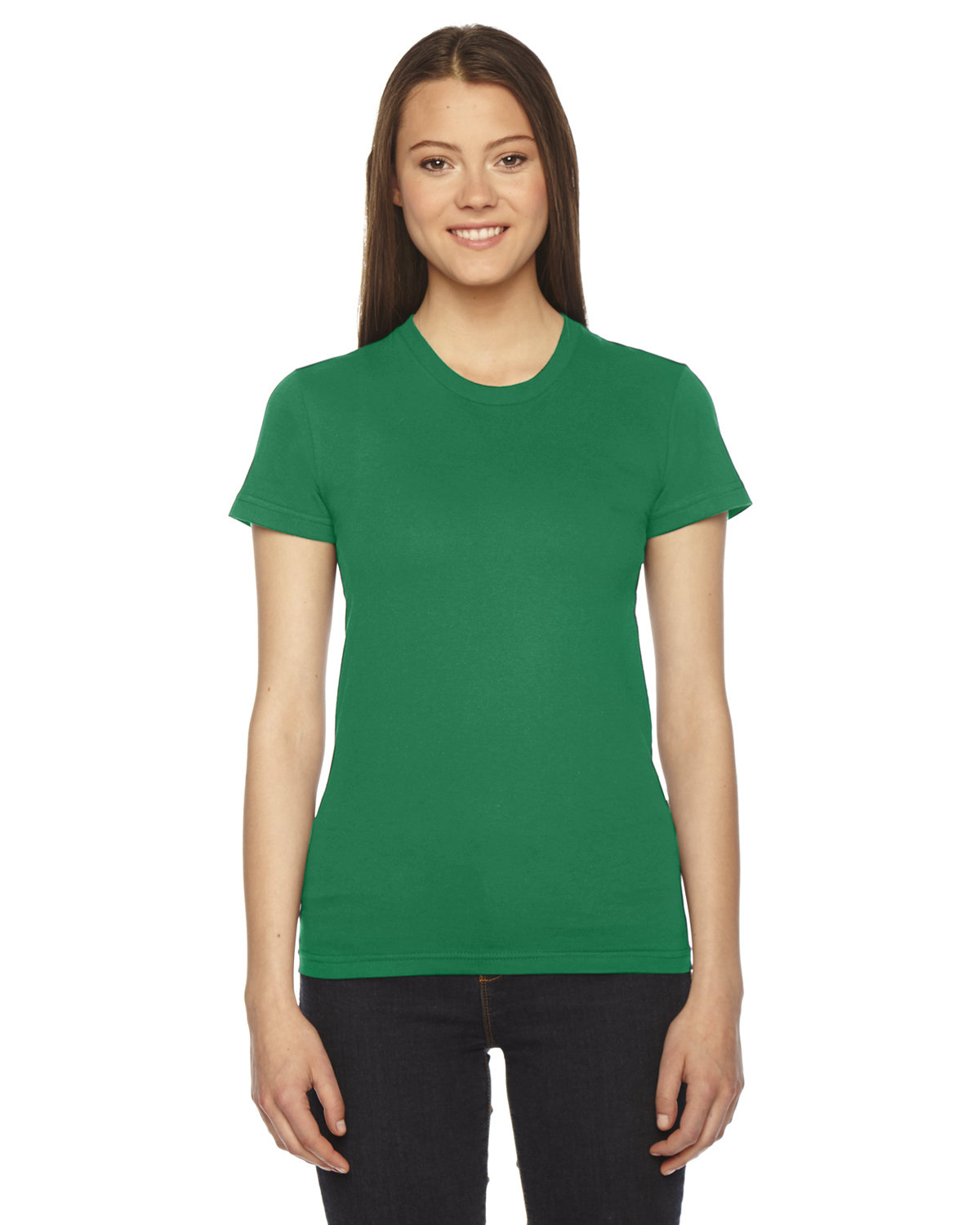 American Apparel Ladies' Fine Jersey Short-Sleeve T-Shirt KELLY GREEN