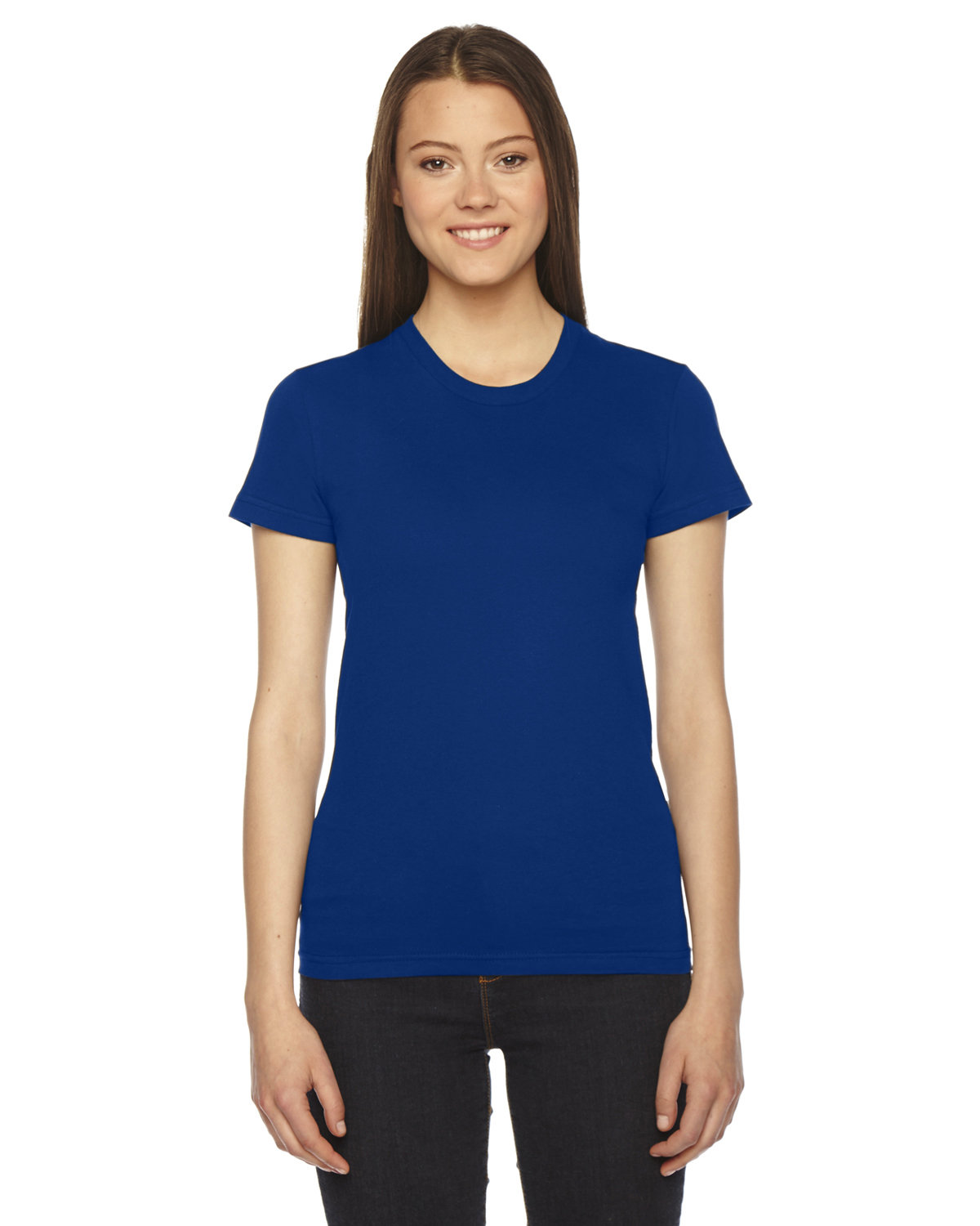 American Apparel Ladies' Fine Jersey Short-Sleeve T-Shirt LAPIS