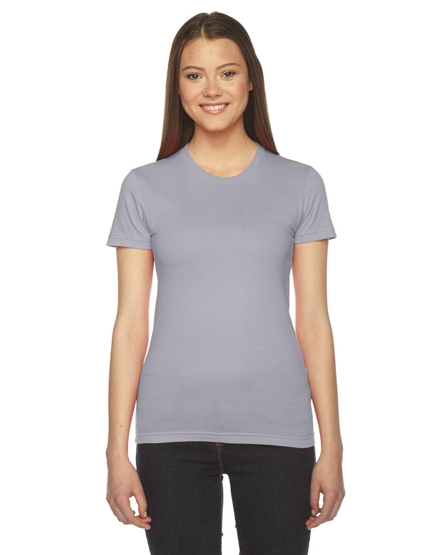 American Apparel Ladies' Fine Jersey Short-Sleeve T-Shirt SLATE
