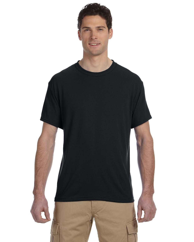 Jerzees Adult DRI-POWER® SPORT Poly T-Shirt BLACK