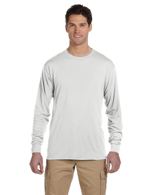 Jerzees Adult DRI-POWER® SPORT Long-Sleeve T-Shirt WHITE