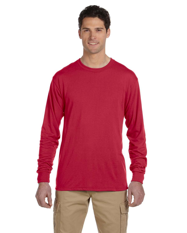 Jerzees Adult DRI-POWER® SPORT Long-Sleeve T-Shirt TRUE RED