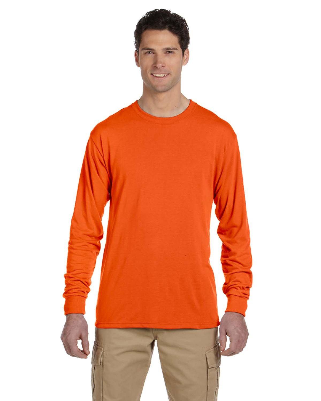Jerzees Adult DRI-POWER® SPORT Long-Sleeve T-Shirt SAFETY ORANGE