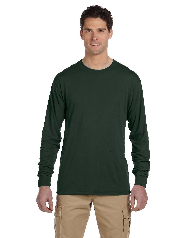 Jerzees Adult DRI-POWER® SPORT Long-Sleeve T-Shirt FOREST GREEN