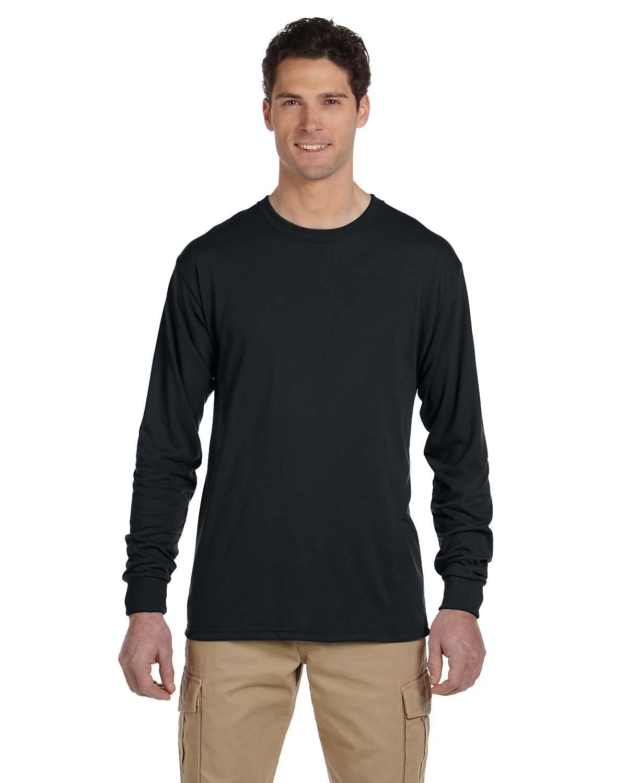Jerzees Adult DRI-POWER® SPORT Long-Sleeve T-Shirt BLACK