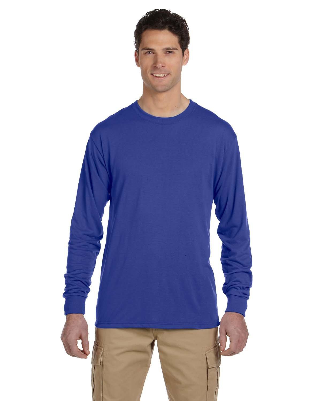 Jerzees Adult DRI-POWER® SPORT Long-Sleeve T-Shirt ROYAL