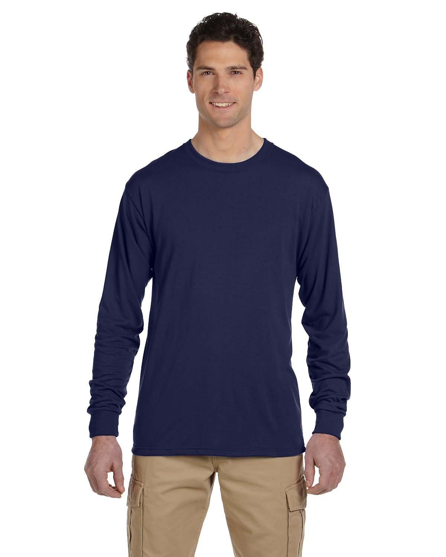 Jerzees Adult DRI-POWER® SPORT Long-Sleeve T-Shirt J NAVY