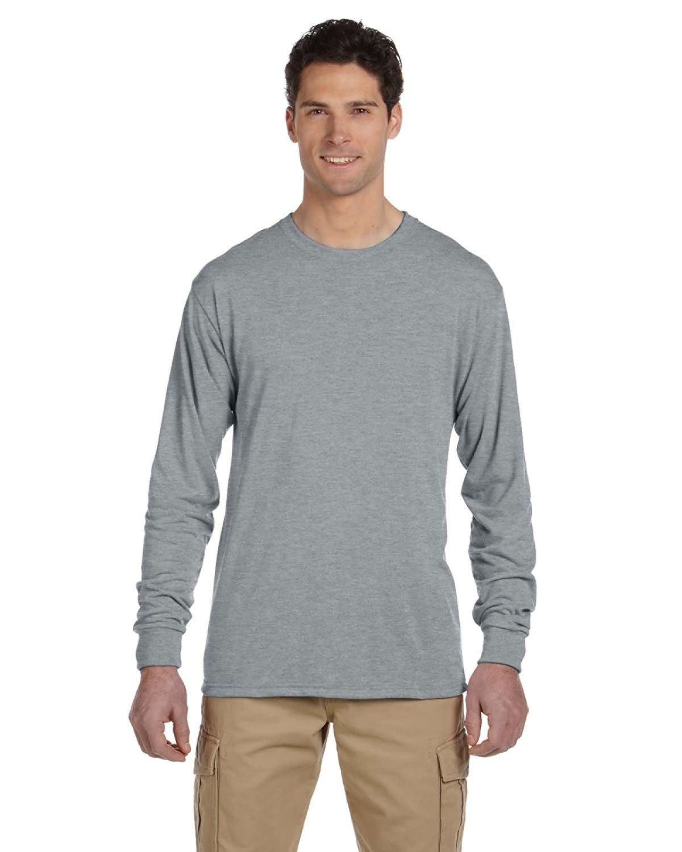 Jerzees Adult DRI-POWER® SPORT Long-Sleeve T-Shirt ATHLETIC HEATHER