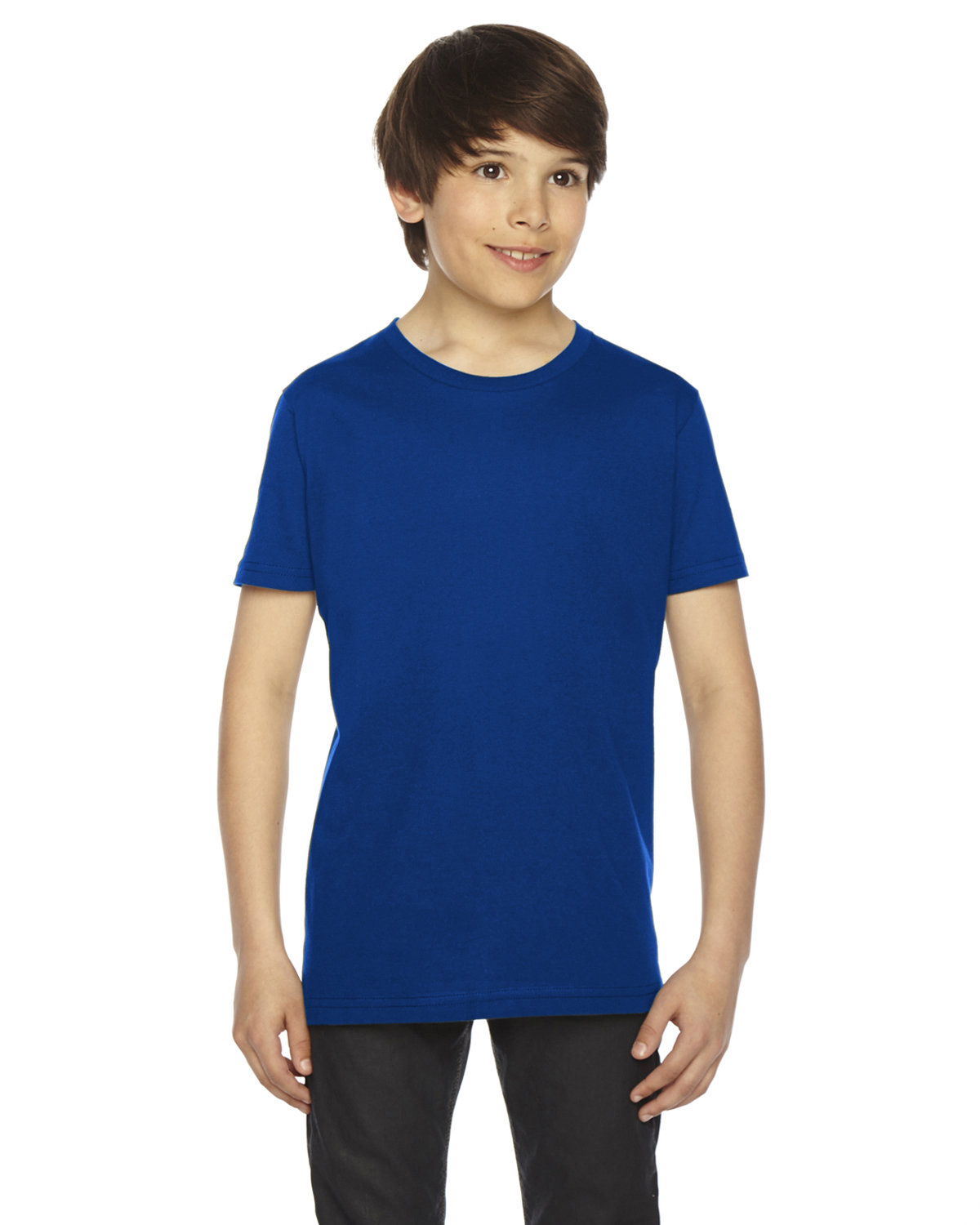 American Apparel Youth Fine Jersey USA Made Short-Sleeve T-Shirt LAPIS