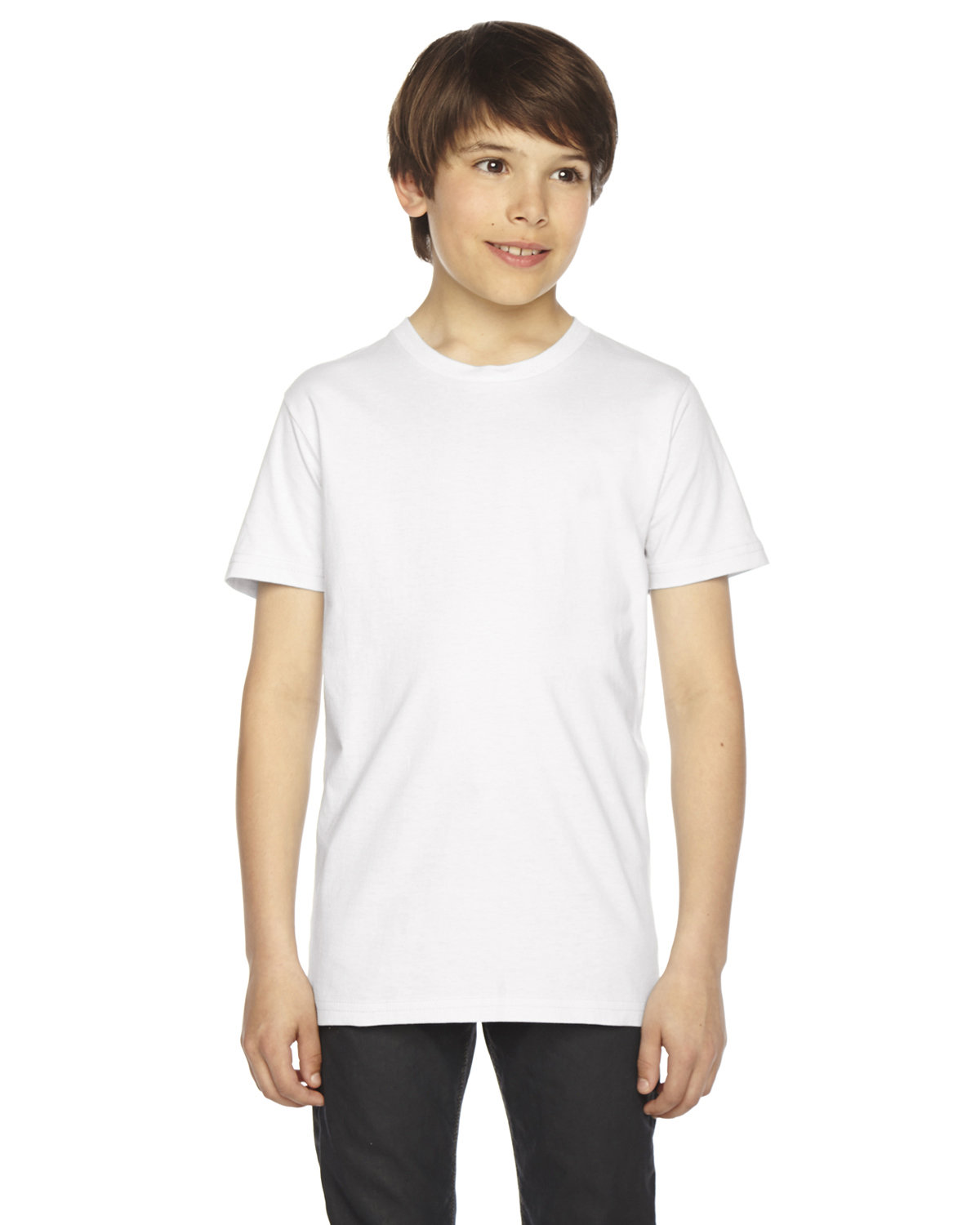 American Apparel Youth Fine Jersey Short-Sleeve T-Shirt WHITE