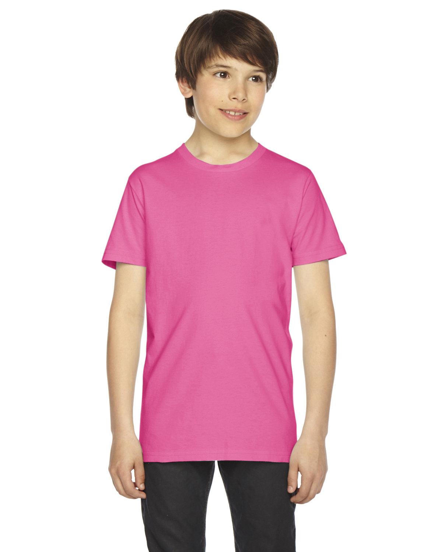 American Apparel Youth Fine Jersey Short-Sleeve T-Shirt FUCHSIA
