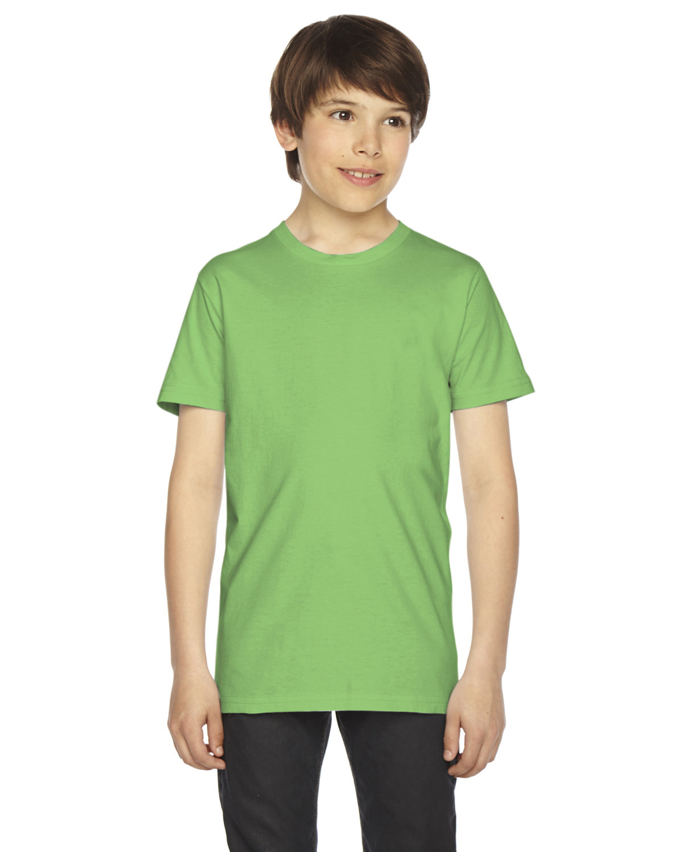 American Apparel Youth Fine Jersey Short-Sleeve T-Shirt GRASS