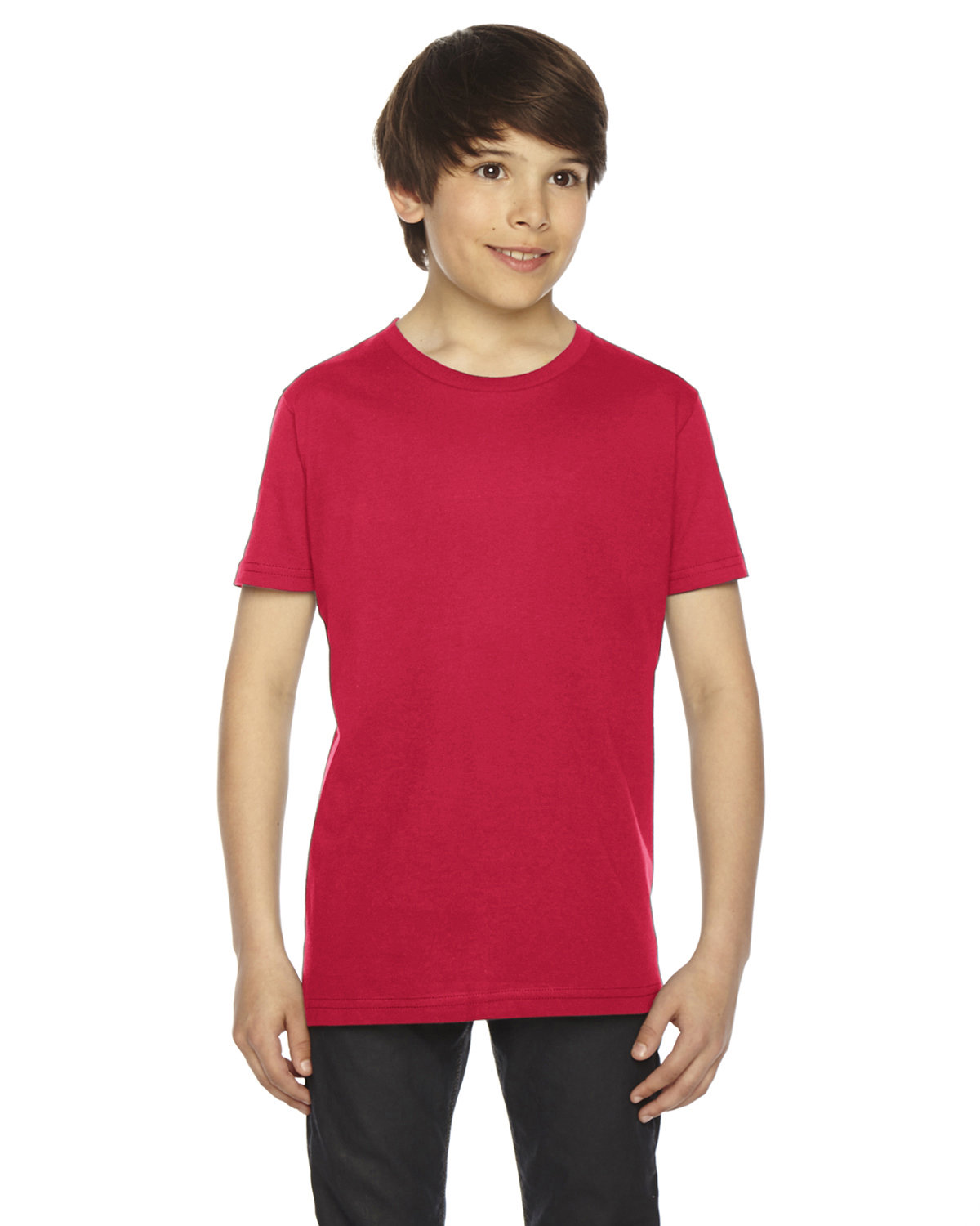 American Apparel Youth Fine Jersey Short-Sleeve T-Shirt RED