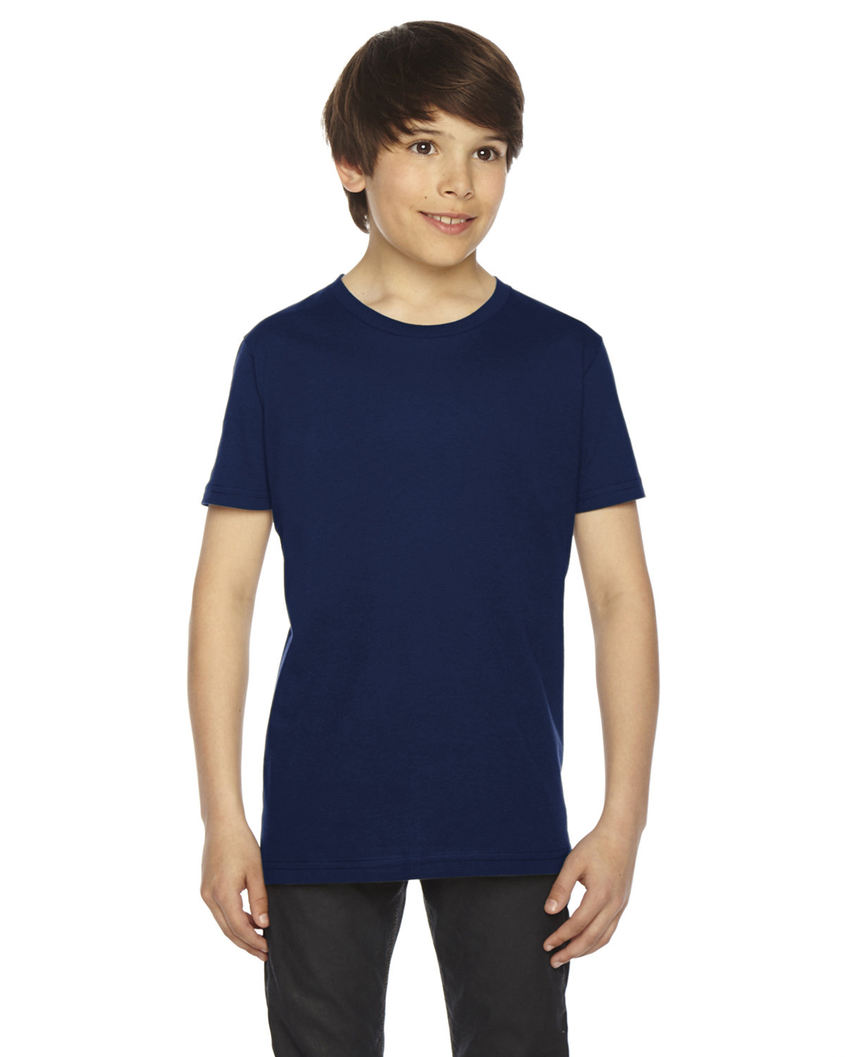 American Apparel Youth Fine Jersey Short-Sleeve T-Shirt NAVY
