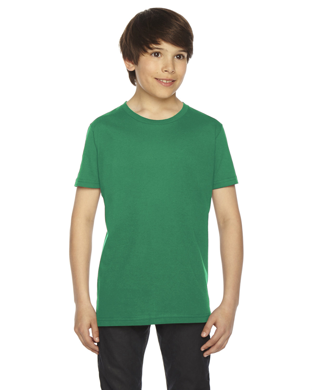 American Apparel Youth Fine Jersey Short-Sleeve T-Shirt KELLY GREEN