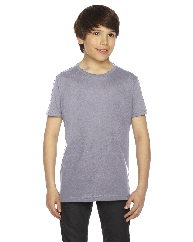 American Apparel Youth Fine Jersey Short-Sleeve T-Shirt SLATE