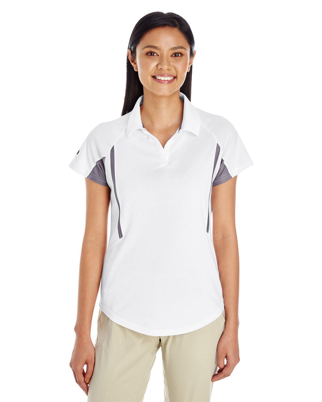 Holloway Ladies' Avenger Polo WHITE/ GRAPHITE