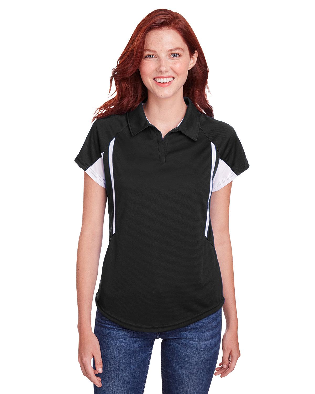 Holloway Ladies' Avenger Polo BLACK/ WHITE