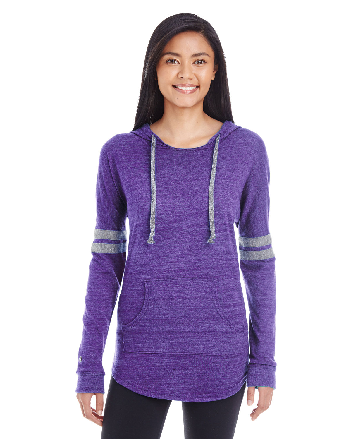 Holloway Ladies' Hooded Low Key Pullover VN PURPL/ VN GRY