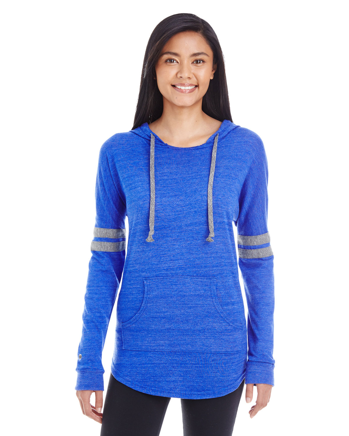 Holloway Ladies' Hooded Low Key Pullover VN ROYAL/ VN GRY