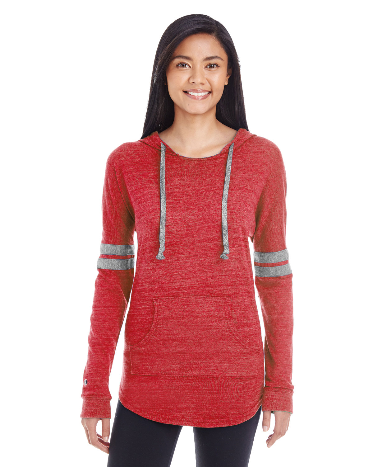 Holloway Ladies' Hooded Low Key Pullover VN SCARL/ VN GRY