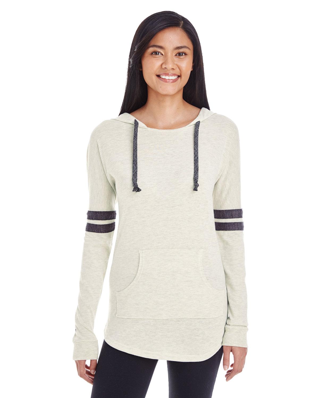 Holloway Ladies' Hooded Low Key Pullover VN BIRCH/ VN BLK