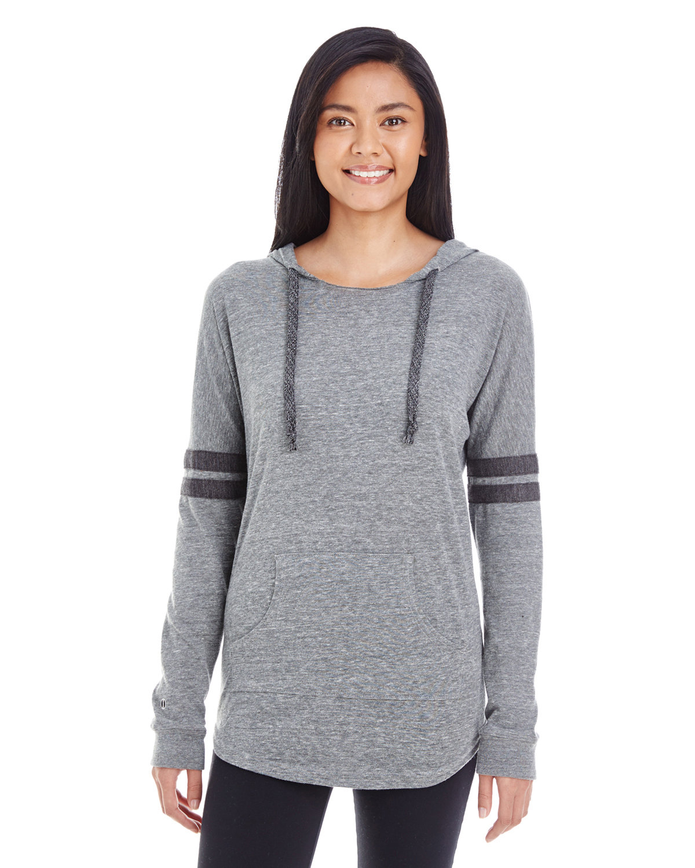Holloway Ladies' Hooded Low Key Pullover VIN GREY/ VN BLK