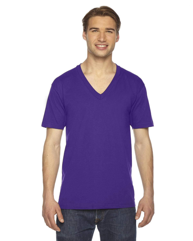 American Apparel Unisex Fine Jersey Short-Sleeve V-Neck T-Shirt PURPLE