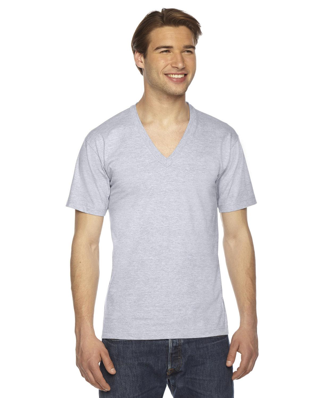 American Apparel Unisex Fine Jersey Short-Sleeve V-Neck T-Shirt ASH GREY