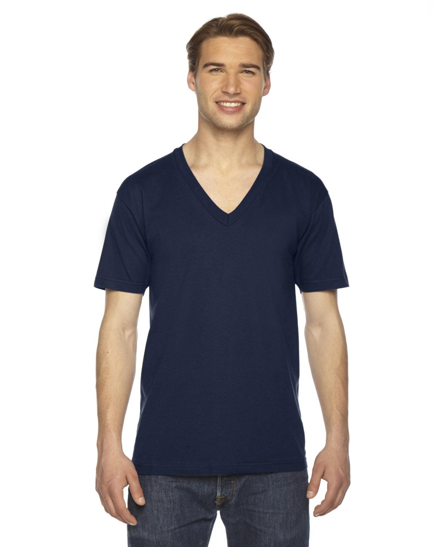 American Apparel Unisex Fine Jersey Short-Sleeve V-Neck T-Shirt NAVY