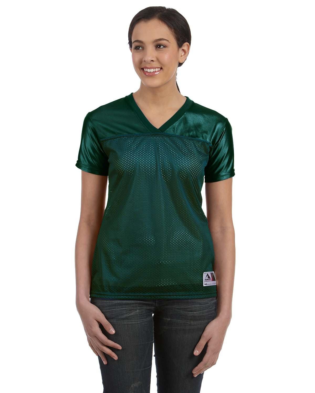 Augusta Sportswear Ladies' Junior Fit Replica Football T-Shirt DARK GREEN