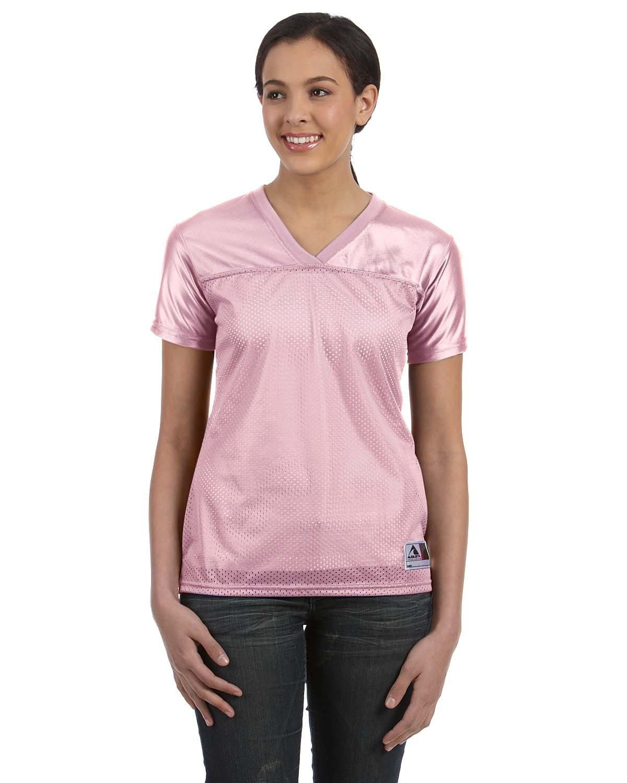 Augusta Sportswear Ladies' Junior Fit Replica Football T-Shirt LIGHT PINK