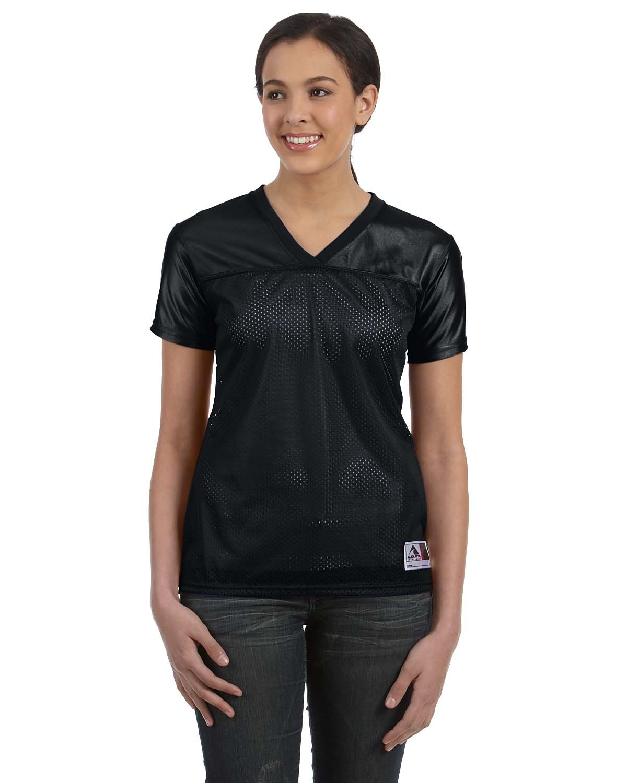 Augusta Sportswear Ladies' Junior Fit Replica Football T-Shirt BLACK