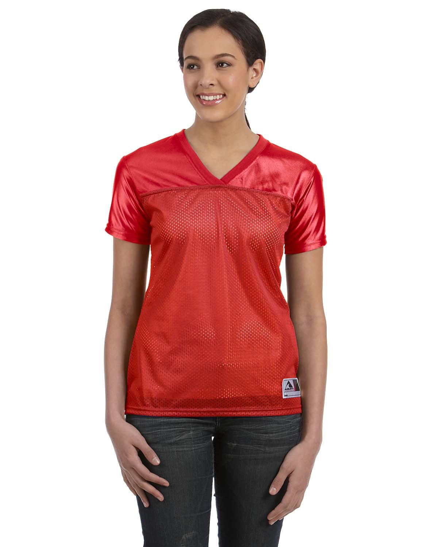 Augusta Sportswear Ladies' Junior Fit Replica Football T-Shirt RED