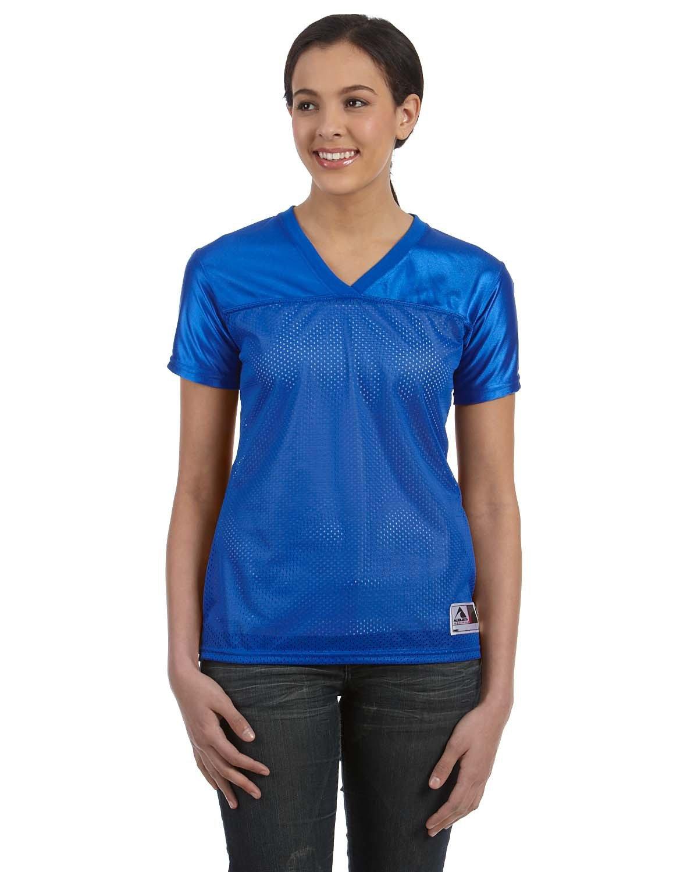 Augusta Sportswear Ladies' Junior Fit Replica Football T-Shirt ROYAL