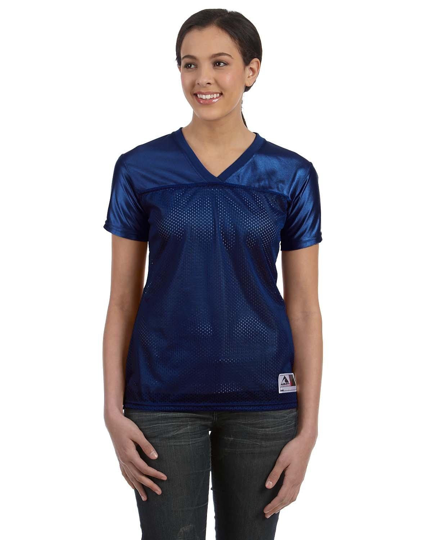Augusta Sportswear Ladies' Junior Fit Replica Football T-Shirt NAVY