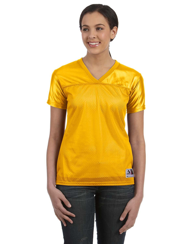 Augusta Sportswear Ladies' Junior Fit Replica Football T-Shirt GOLD