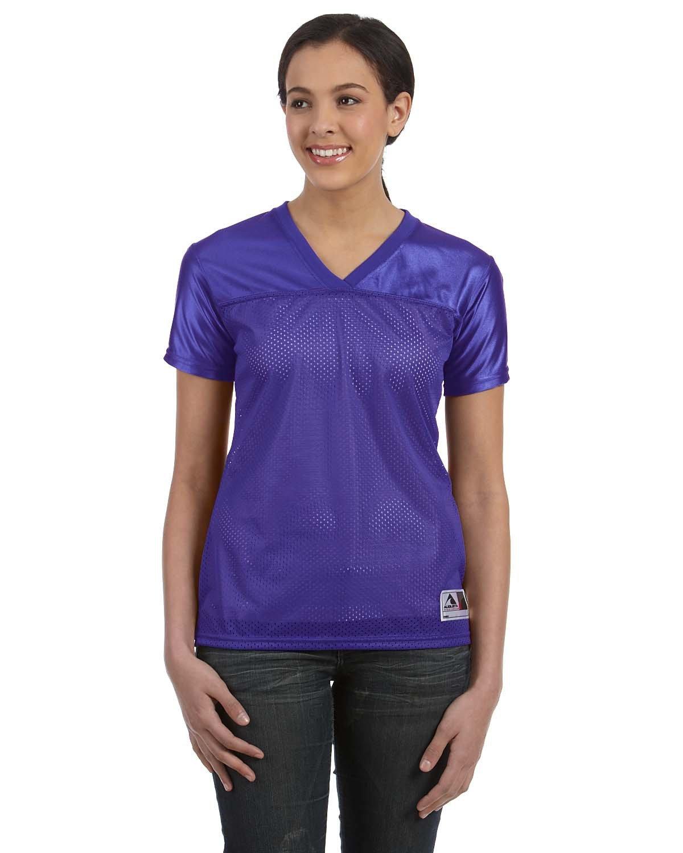 Augusta Sportswear Ladies' Junior Fit Replica Football T-Shirt PURPLE