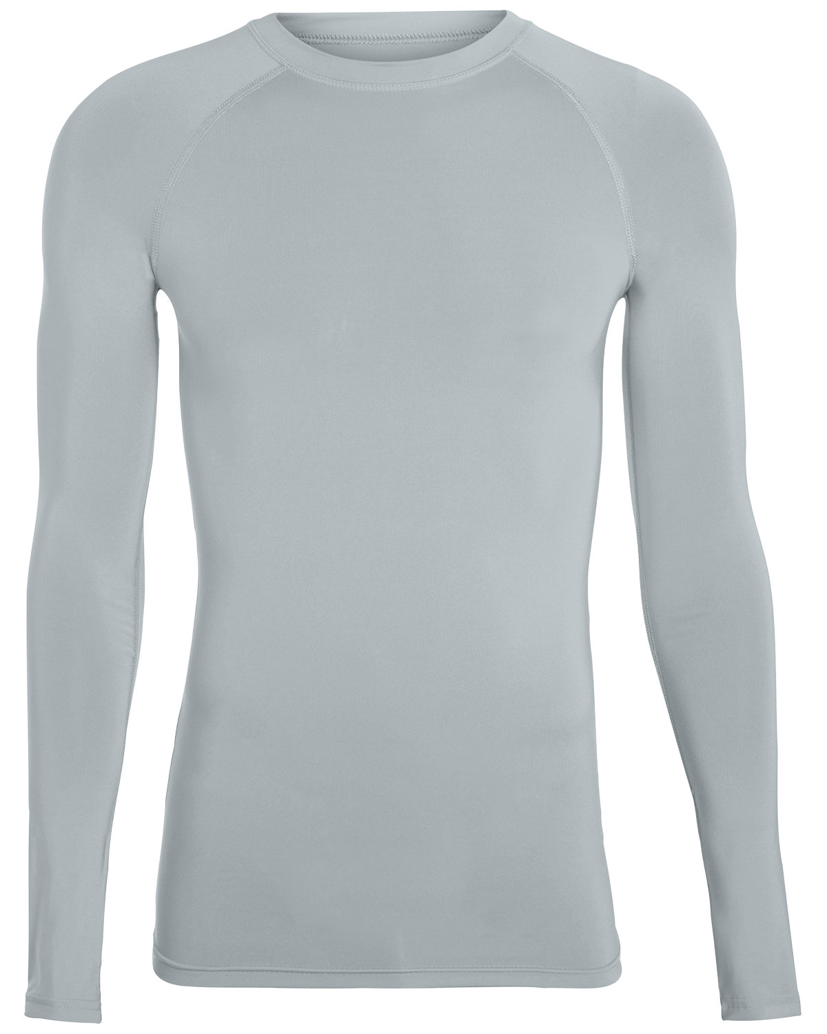 Augusta Drop Ship Adult Hyperform Long-Sleeve Compression Shirt SILVER