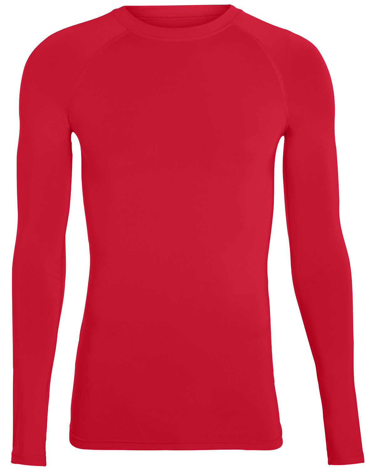 Augusta Drop Ship Adult Hyperform Long-Sleeve Compression Shirt RED