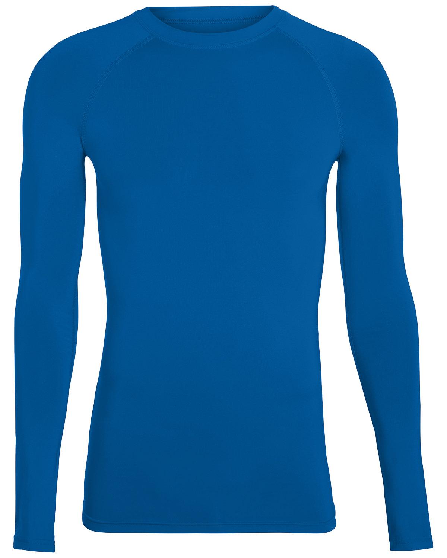 Augusta Drop Ship Adult Hyperform Long-Sleeve Compression Shirt ROYAL