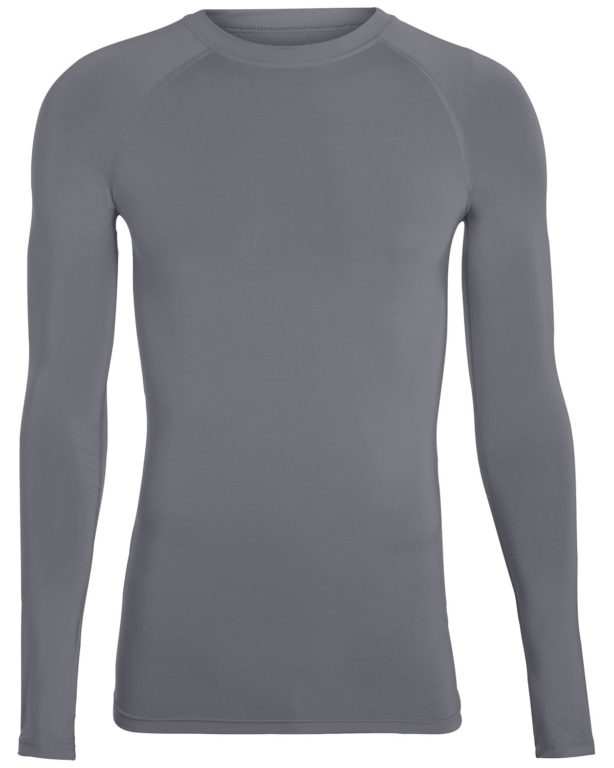 Augusta Drop Ship Adult Hyperform Long-Sleeve Compression Shirt GRAPHITE