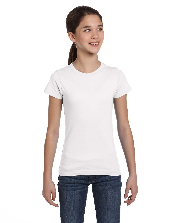 LAT Girls' Fine Jersey T-Shirt WHITE