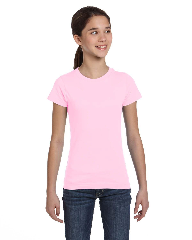 LAT Girls' Fine Jersey T-Shirt PINK