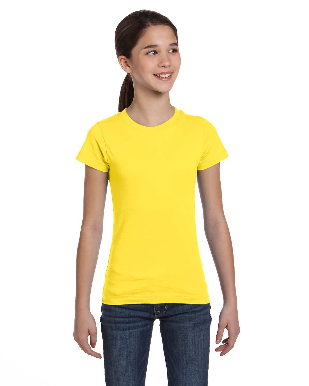 LAT Girls' Fine Jersey T-Shirt YELLOW