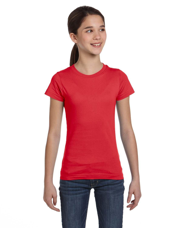 LAT Girls' Fine Jersey T-Shirt RED