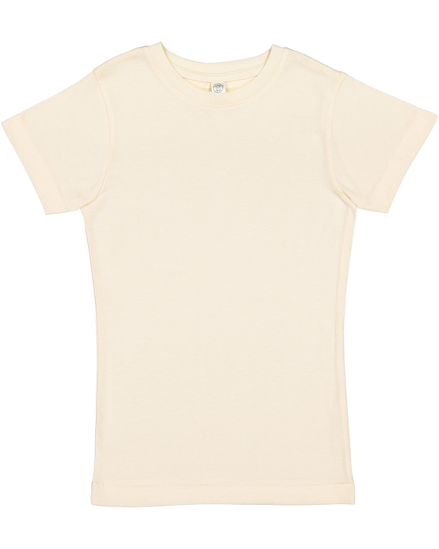 LAT Girls' Fine Jersey T-Shirt NATURAL