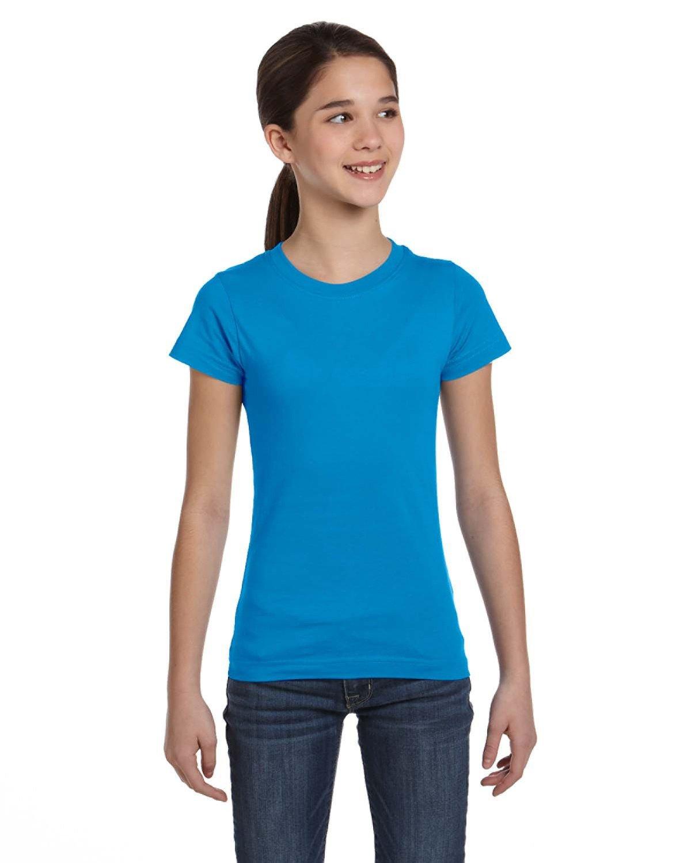 LAT Girls' Fine Jersey T-Shirt COBALT