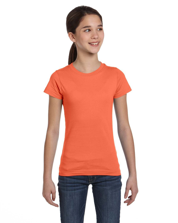LAT Girls' Fine Jersey T-Shirt PAPAYA